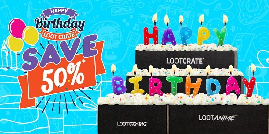 Loot Crate Birthday Sale – Save 50% Off Select Crates!