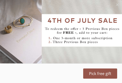 Emma & Chloe 4th of July Coupon Code – Free Jewelry with Prepaid Subscriptions!
