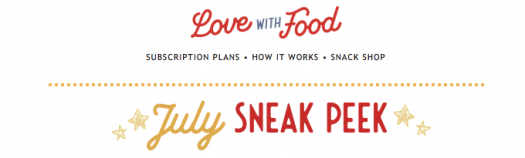 Love With Food July 2019 Spoilers + Coupon Code