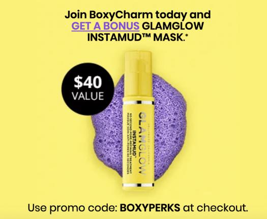 LAST DAY: BOXYCHARM Coupon Code – Free GLAMGLOW Instamud Mask