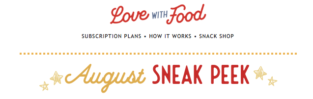 Love With Food August 2019 Spoilers + Coupon Code