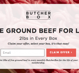 Butcher Box - FREE Ground Beef for Life!!