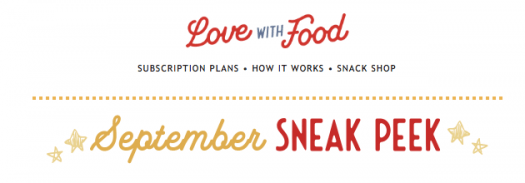 Love With Food November 2019 Spoilers + Coupon Code