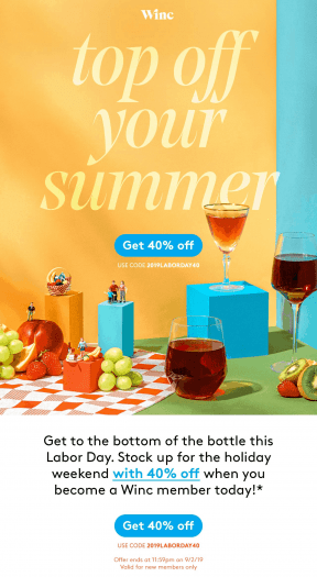 Winc Labor Day Sale – Save 40% Off First Month!