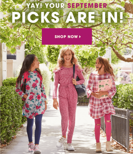 September 2019 FabKids Selection Time + New Subscriber Offer