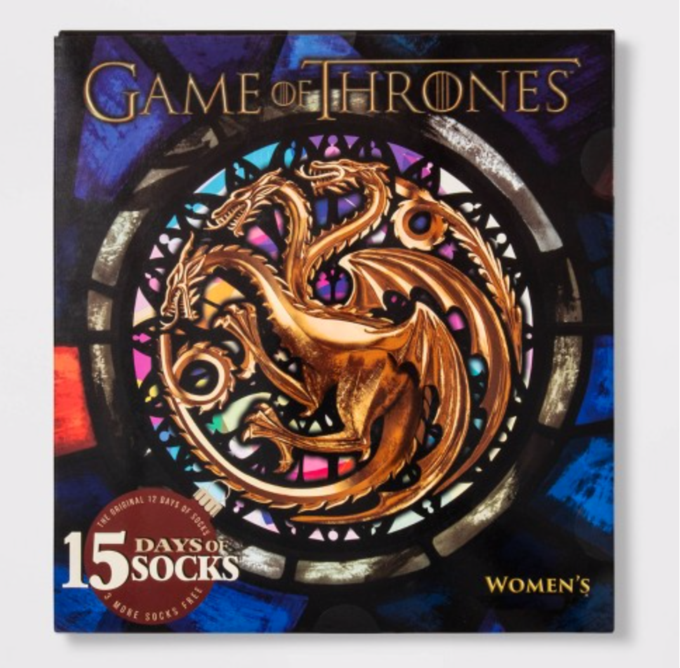 Women's Game Of Thrones 15 Days of Socks Advent Calendar – On Sale Now