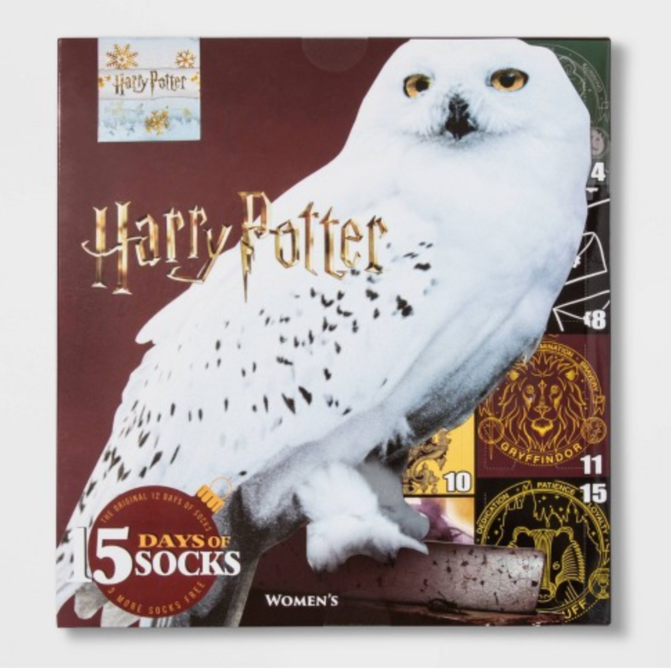 Women's Harry Potter Owl 15 Days of Socks Advent Calendar – On Sale Now