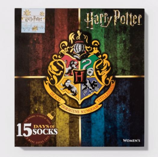 Women's Harry Potter Hogwarts Crest 15 Days of Socks Advent Calendar – On Sale Now