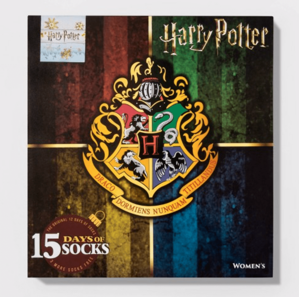Women's Harry Potter Hogwarts Crest 15 Days of Socks Advent Calendar – On Sale Now