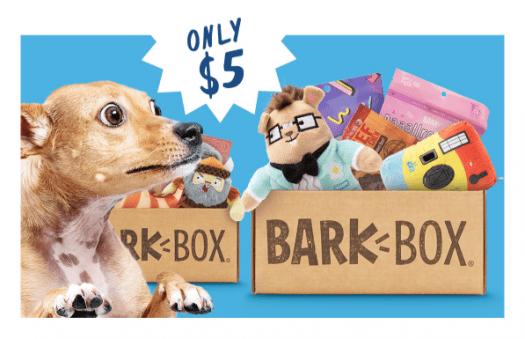 BarkBox Coupon Code – $5 First Box