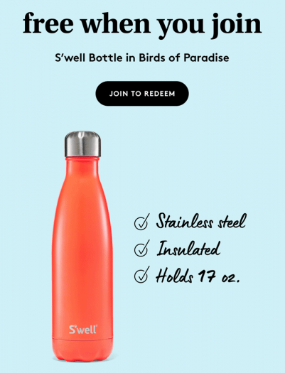 Birchbox Coupon – FREE S'well Bottle in Birds of Paradise with New Subscriptions