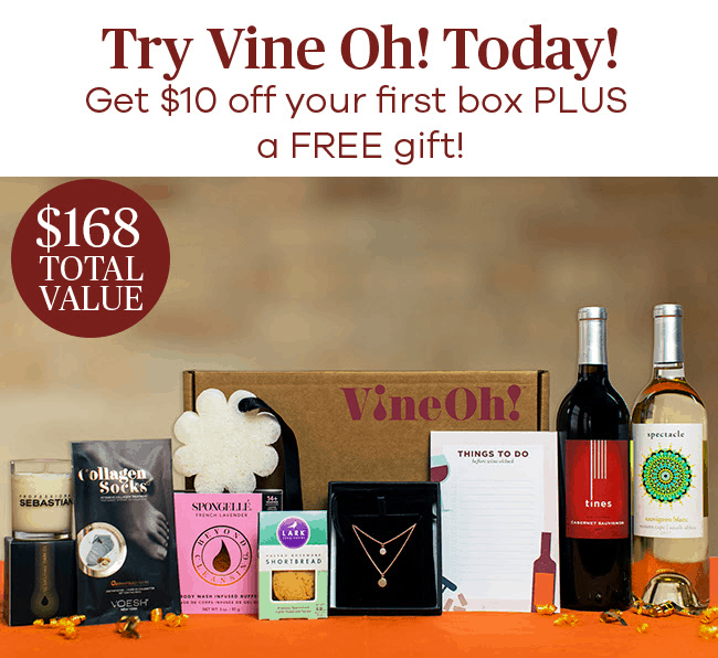 Vine Oh! Box Sale – $10 Off + Free Bottle of Wine