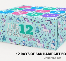 Bad Habit Boutique 12 Days of Christmas Gift Box for Kids