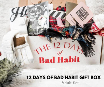 Must Have Christmas Gifts 2019.Bad Habit Boutique 12 Days Of Christmas Advent Gift Box