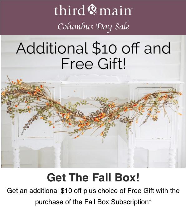 Third & Main Fall Box Coupon Code – $10 Off + Free Gift