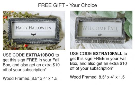 Third & Main Fall Box Coupon Code - $10 Off + Free Gift