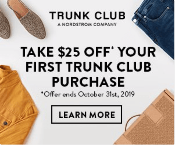 Trunk Club – Save $25 Off Your First Purchase