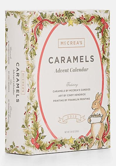 McCrea's Candies' 2019 Caramel Advent Calendar