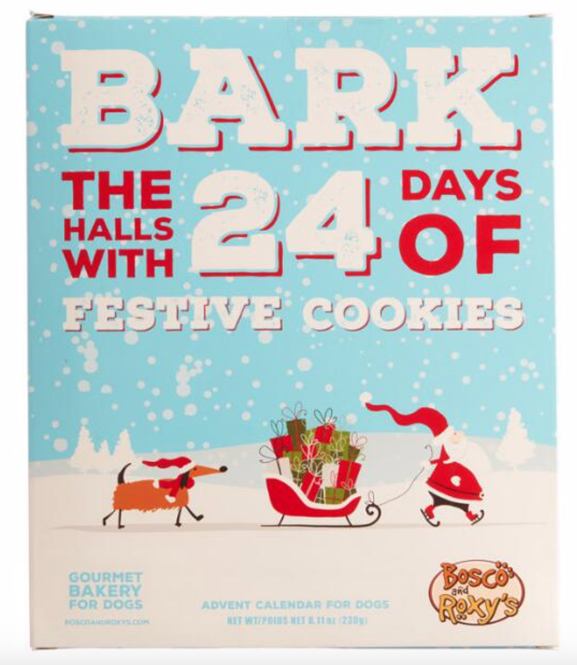 Bosco & Roxy's Bark The Halls Dog Treat Advent Calendar!