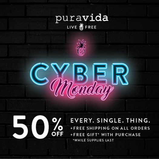 Pura Vida Cyber Monday Sale – Save 50% + Free Gift with Purchase!