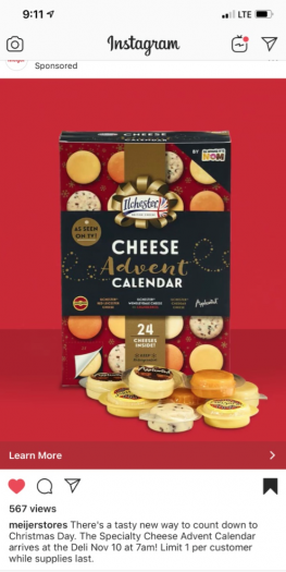Ilchester Cheese Advent Calendar – In Meijer Stores 11.10.19