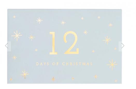 KikkiK 12 Days of Christmas Advent Calendar Luxe Dusty Blue Christmas – On Sale Now