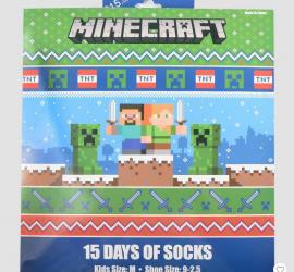 Boys' Minecraft 15 Days of Socks Advent Calendar - On Sale Now