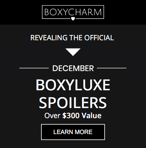 BOXYCHARM BOXYLUXE December 2019 – Additional Spoilers