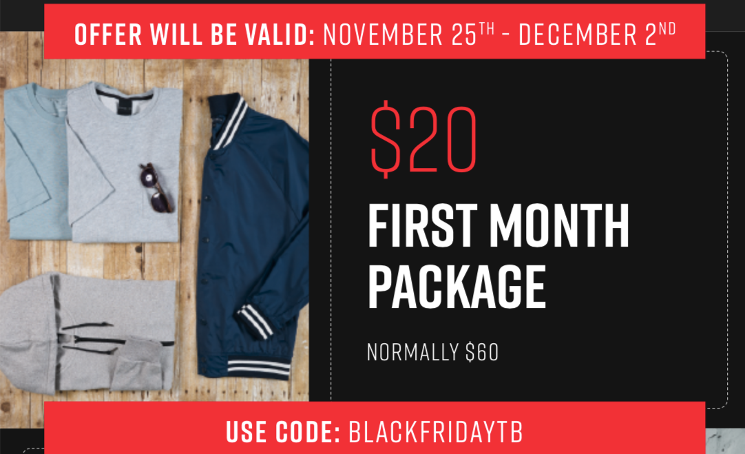 BEST DEAL EVER: Menlo Club Black Friday Coupon Code – First Box for $20!