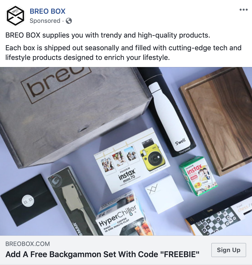 Breo Box Coupon Code – Free Backgammon Set!