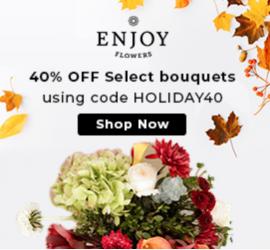 Enjoy Flowers Black Friday Sale - Save 40%!