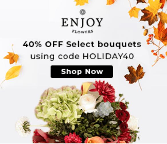 Enjoy Flowers Cyber Monday Sale – Save 40%!