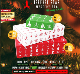 Jeffree Star Holiday Mystery Boxes - Launching Thanksgiving Day!
