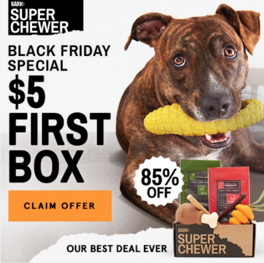 BarkBox Super Chewer Black Friday Coupon Code – First Box for $5