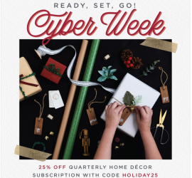 Decorated Curated Home Black Friday Sale - Save 25%!