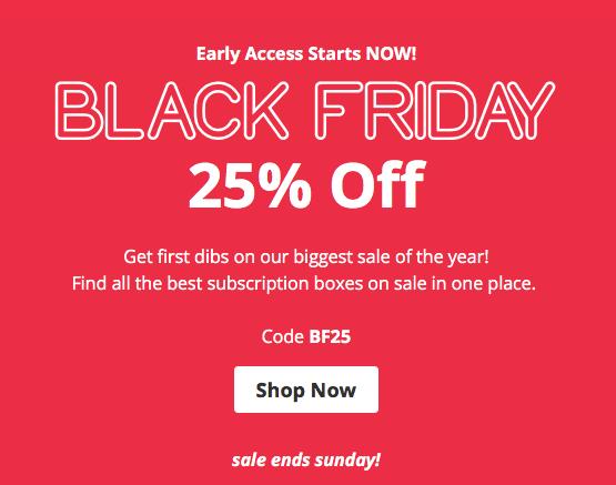 CrateJoy Black Friday Sale – Save 25% On HUNDREDS of Boxes!