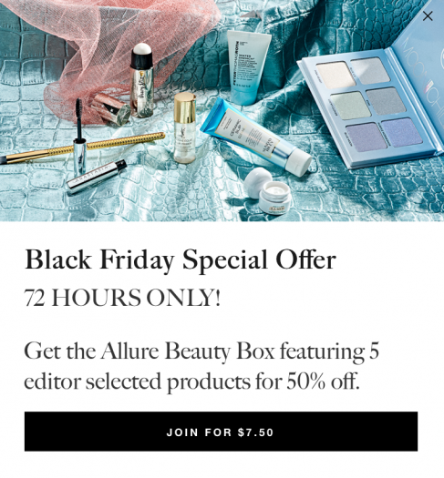 Allure Beauty Box Black Friday Offer – Get 50% off Your First Box