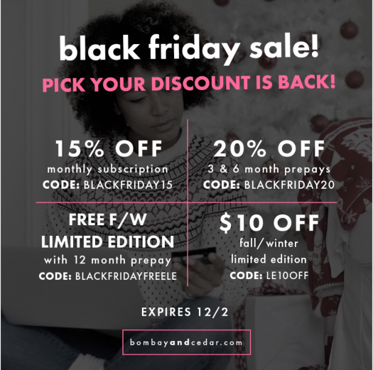 Bombay & Cedar Black Friday Coupon Codes – Pick Your Deal!