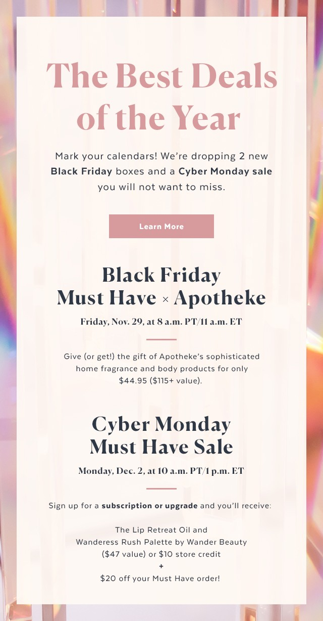 POPSUGAR Must Have x Apotheke Black Friday Boxes – On Sale Now!
