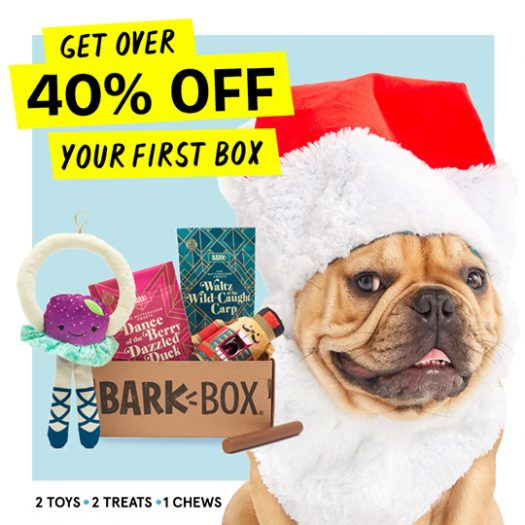 BarkBox Coupon Code - Save Over 40% Off Your First Box!
