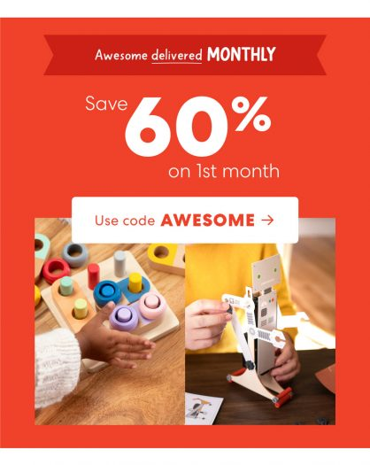 KiwiCo Holiday Sale – Save 60% Off Your First Month!