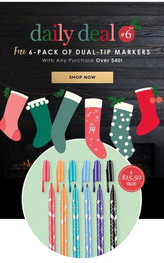 Erin Condren Flash Sale – Free Classic Dual-Tip Markers 6-Pack