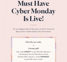 POPSUGAR Must Have Box Cyber Monday Sale - Save $20 + Get A Free Gift!