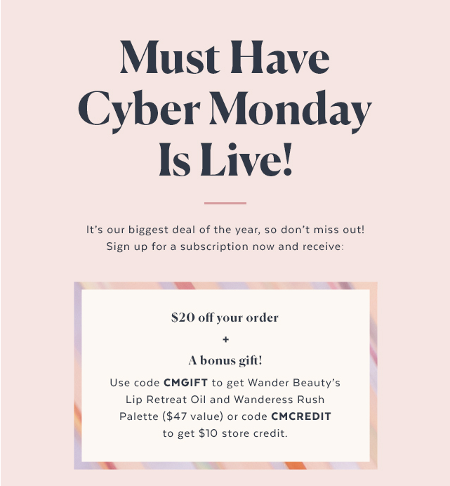 FINAL HOURS! POPSUGAR Must Have Box Cyber Monday Sale – Save $20 + Get A Free Gift!