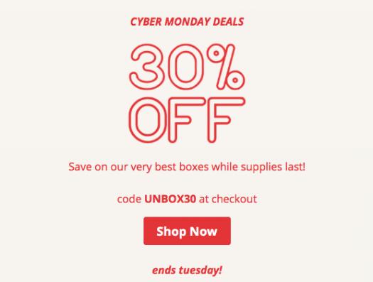 CrateJoy Black Cyber Monday - Save 30% On HUNDREDS of Boxes!