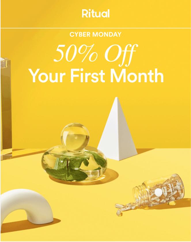 Ritual Vitamin Cyber Monday Sale – Save 50%!