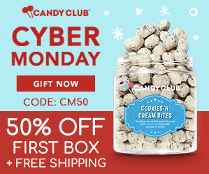 Candy Club Cyber Monday Sale – Save 50% Off Your First Box + Free Shipping!