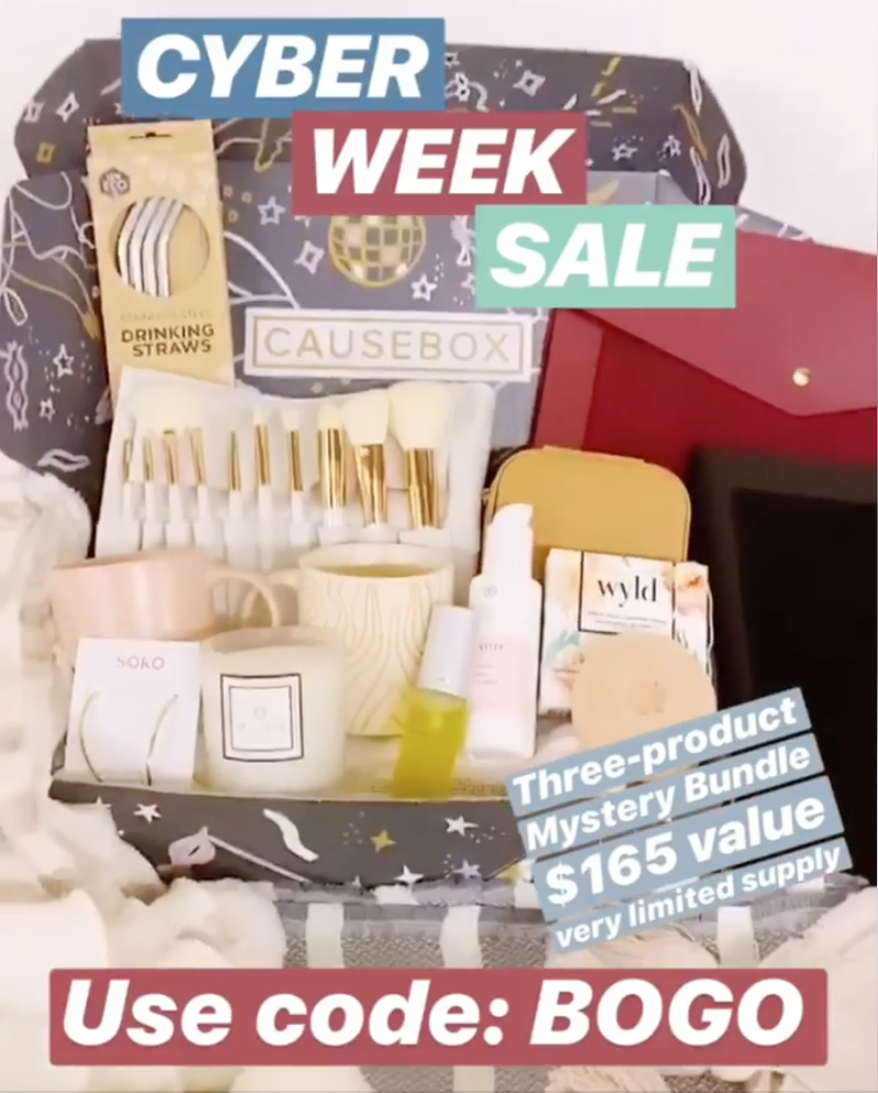CAUSEBOX Cyber Week Sale – Free Mystery Box with Winter Welcome Box Purchase