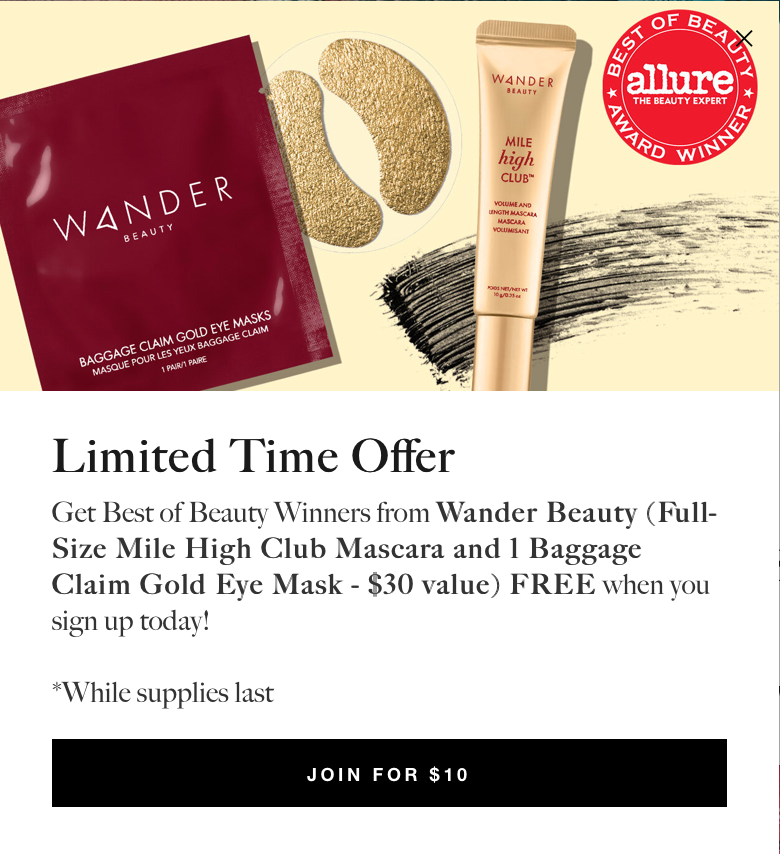 Allure Beauty Box – Free Wander Beauty Products + First Box for $10!