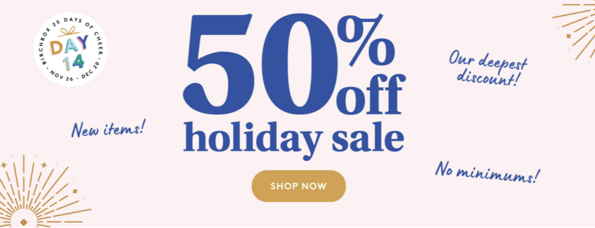Birchbox Green Monday Super Beauty Sale – 50% Off Holiday Clearance